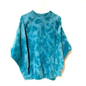 Custom Dyed Turquoise Crewneck